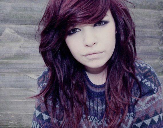 ... Purple Hair Chalk // Large Salon Grade Stick // Temporary Hair Color