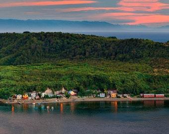 Landscape Photography,Island, Nature Photography, Wall Decor, Chile, Patagonia, Sunset, Isla tenglo, Sea, Puerto Montt