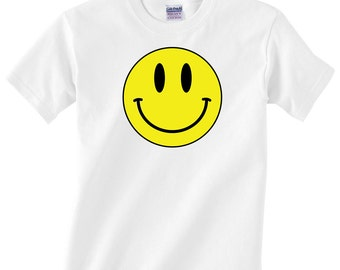 Children's Happy Smiley Face T Shirt