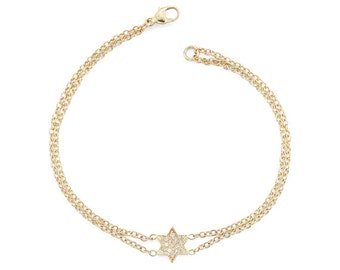 Star Of David Bracelet - Magen David Bracelet - Jewish Star Of David - Gold Star Of David Bracelet - Gold Star Of David - Jewish Jewelry