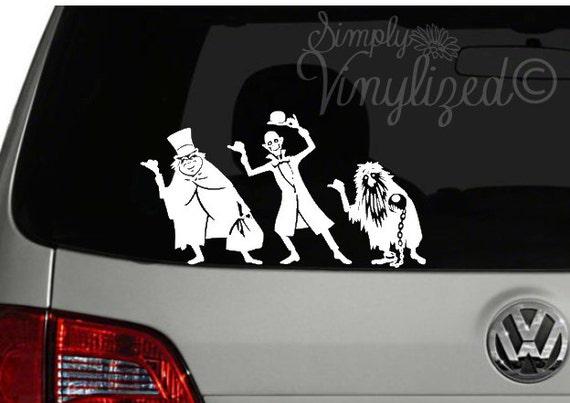 The Haunted Mansion Hitch Hikers Inspired Car Decal