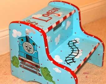 Custom Painted Child's Step Stool