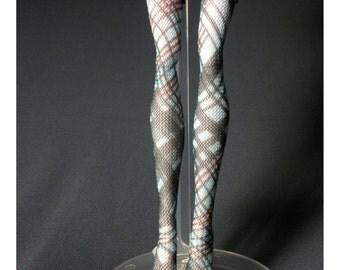 Dolls stockings/socks for Monster high doll - Pink + Blue Linghein  #No.571