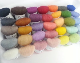 SALE! 35 colors needle felting -Needle felt wool - All in one combo - needle felting wool