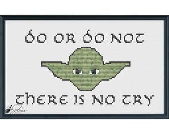 Star Wars Yoda Digital Cross Stitch Pattern