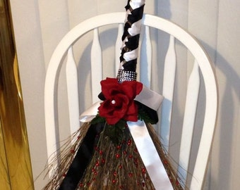 Elegant Wedding Broom Design for Jumping the Broom Wedding Traditions