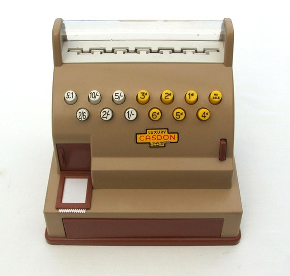 Toy Cash Register : Vintage toy cash register s
