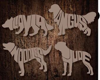 Custom Dog name decals