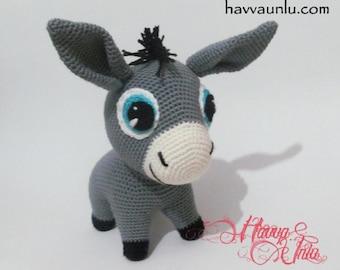 Amigurumi Free Pattern Food : Popular items for crochet donkey on Etsy