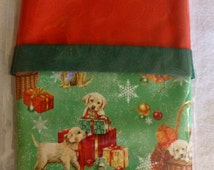 Pillowcase Kit - Christmas Puppies-  Complete Kit, Make Your Own