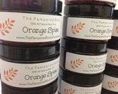 Gourmet Orange Spice Body Scrub - 4 oz Jar - FREE SHIPPING