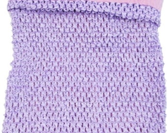 10x11 Lavender extra large lined  crochet headband tutu tops 4.99
