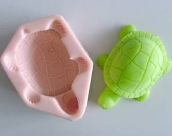 Tortoise 3D Flexible Silicone Mold Silicone Mould Candy Mold Chocolate Mold Soap Mold Polymer Clay Mold Resin Mold H0044
