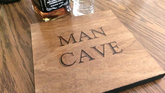 Wood Burned Man Cave sign
