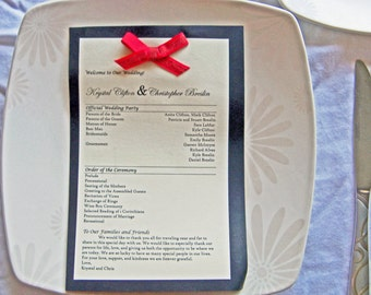 Single Page Wedding Program
