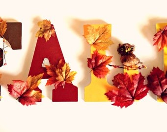 Fall Havest Wooden Letter Wall Decor