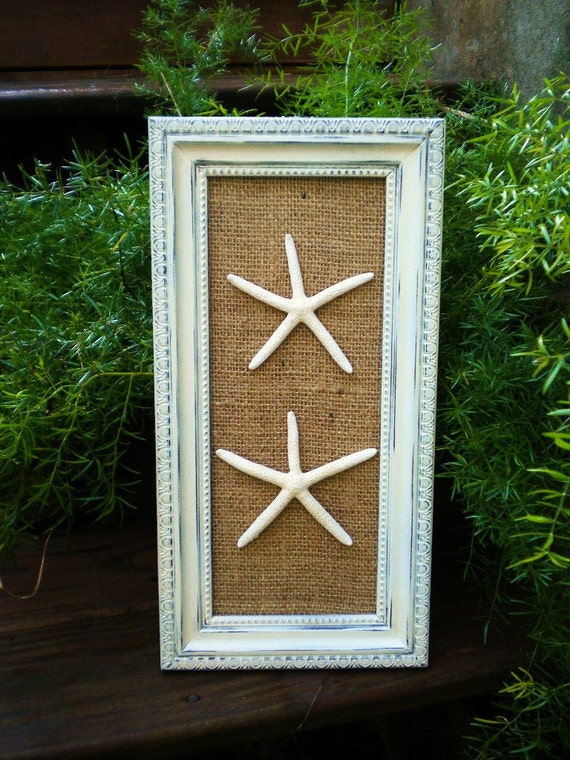 Chic Framed Starfish Wall Art Dorm Wall Art Beach Cottage Wall Art