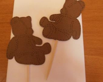 Birthday Bear Cupcake Toppers