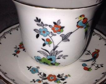 Vintage 1940s Tuscan Fine Bone China Teacup And Saucer