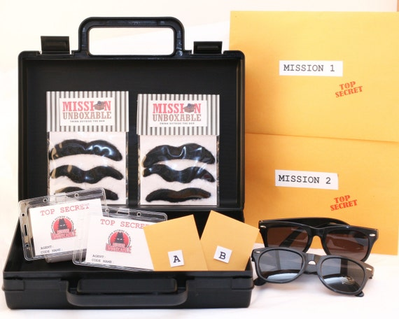 secret agent spy disguise kit with briefcase by missionunboxable. Black Bedroom Furniture Sets. Home Design Ideas