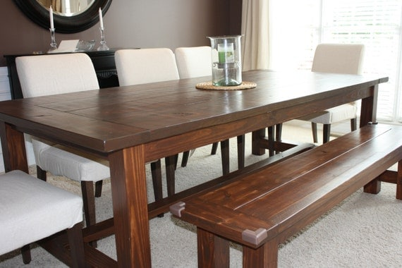 items similar to farmhouse dining room table on etsy