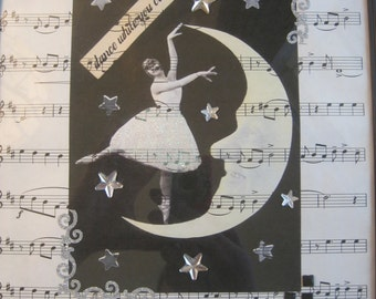 Vintage Inspired Moon Dancer Wall Decor