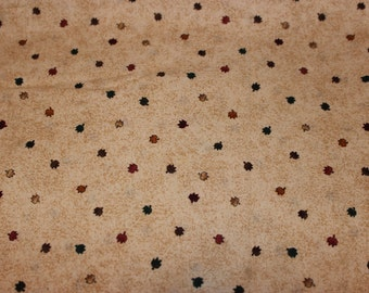 """DEBBIE MUM Fall Leaf Patterned """"Mums The Word"""" 100% Cotton Fabric -  (1) Yard"""
