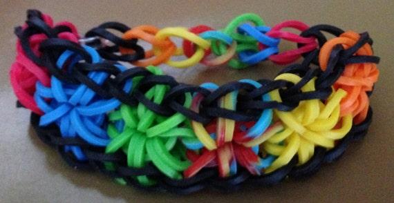 Tie Dye Loom Bracelet Starburst Bracelet Tie Dye