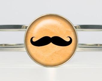 Hipster mustache bracelet Hipster jewelry Hipster bracelet