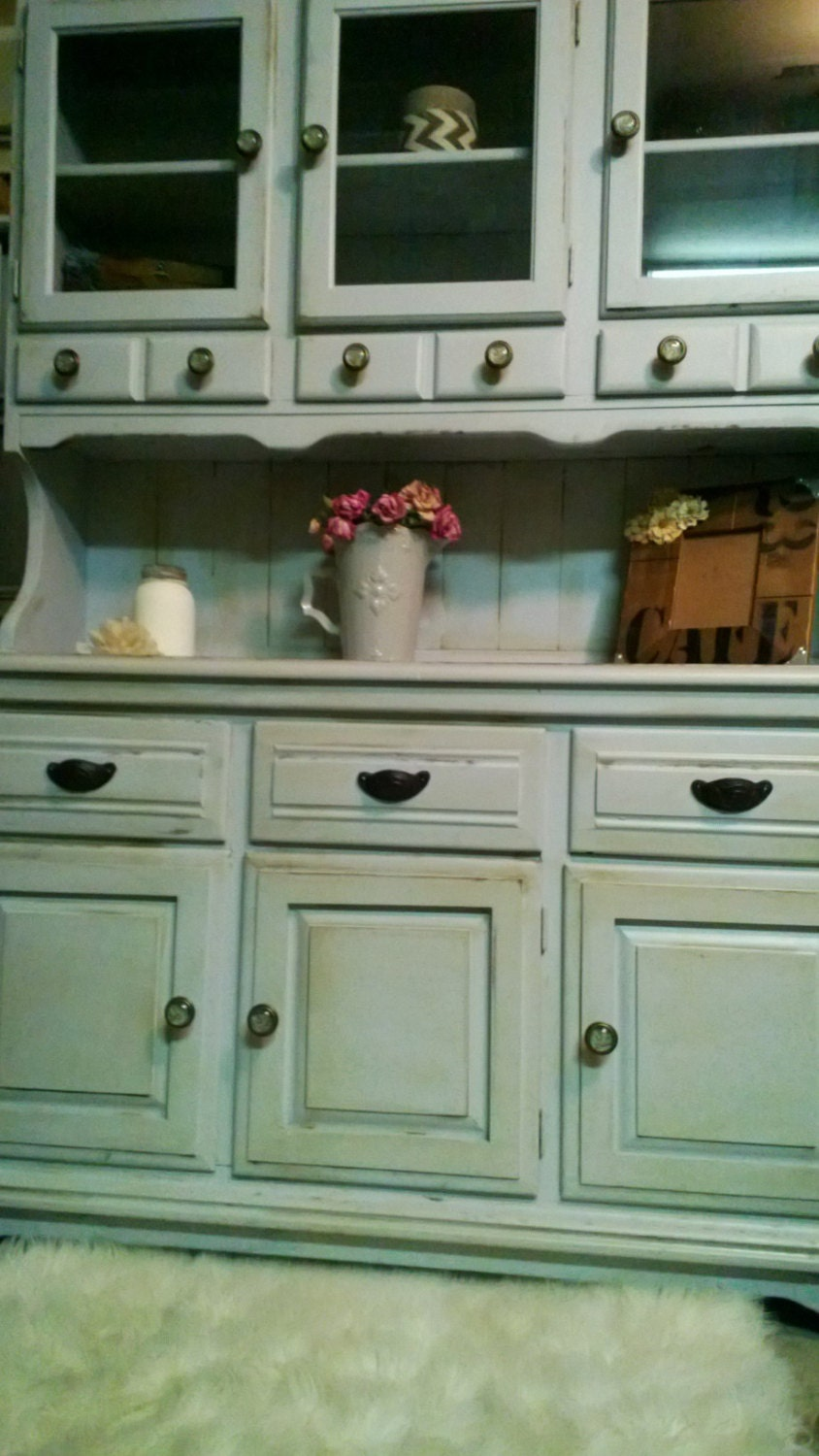 antiqued shabby chic china hutch sold by corusticchic on etsy. Black Bedroom Furniture Sets. Home Design Ideas