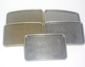 5 Belt Buckle Blanks - Antique Nickle & Brass Mix