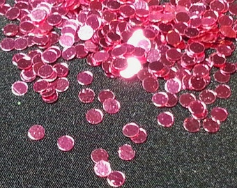 solvent-resistant glitter shapes-metallic pink dots