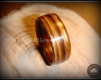 Bentwood Zebrawood - Handcrafted Wood Ring Jewelry crafted by steam bending for an extremely durable and beautiful wood ring.