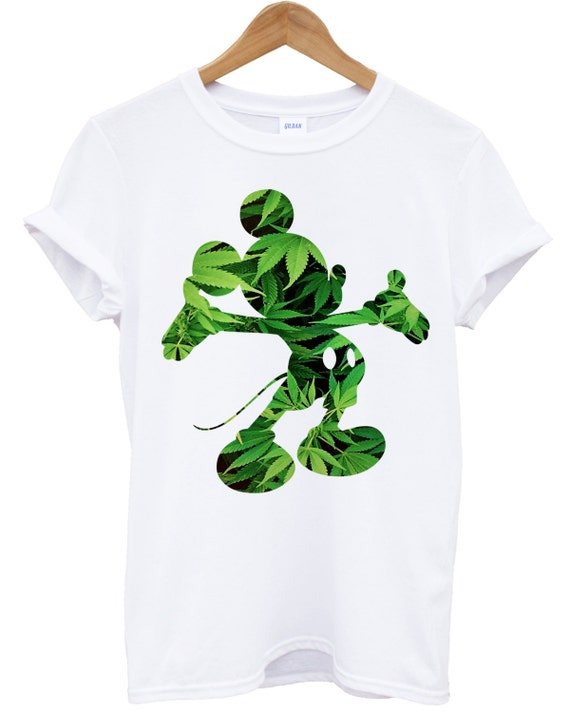 Mickey Weed T shirt Mouse Disobey Dope T-shirt Cannabis