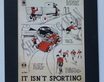 VINTAGE World War 2 poster -  A3 mounted 50 x 40 cm