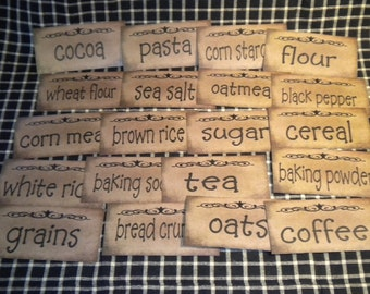 Prim Pantry Paper Labels - Kitchen Dry Goods