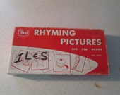 Ideal 2694 Rhyming Pictures for Peg Board 30 Cards