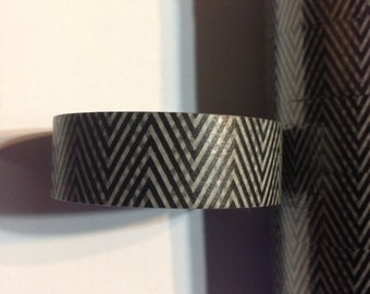 Black And Tan Chevron Washi Tape
