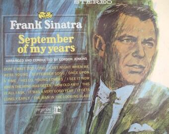 Frank Sinatra September of my Years vinyl record