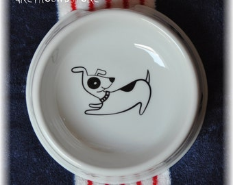 BOWL with DOG