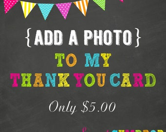 Photo On Your Thank You Card - Printable