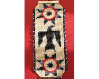 Instant Download Beading Pattern Peyote Stitch Bracelet Raven Star Native Seed Bead Cuff