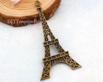 5pcs  Eiffel Tower Charms,Antique bronze Large Eiffel Tower Charm Pendants,Paris, France - Jewelry Making Findings 37x71mm