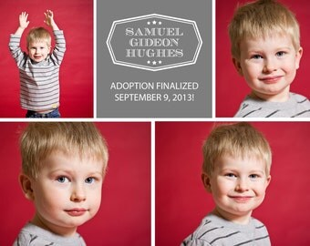 Adoption Announcement Template - 5x7 .PSD File - Samuel