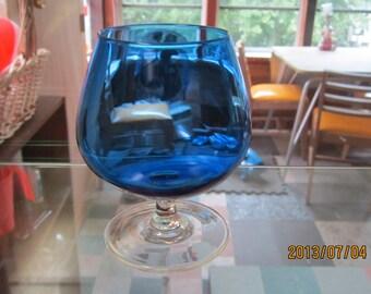 1980,s cobalt wine glass