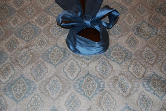 silver and blue 60 tree skirt large by holidaybyrc