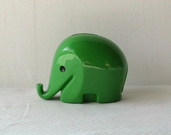 Louige Colani Elephant Coin Bank 'DRUMBO' for Dresdner Bank -Green M size-