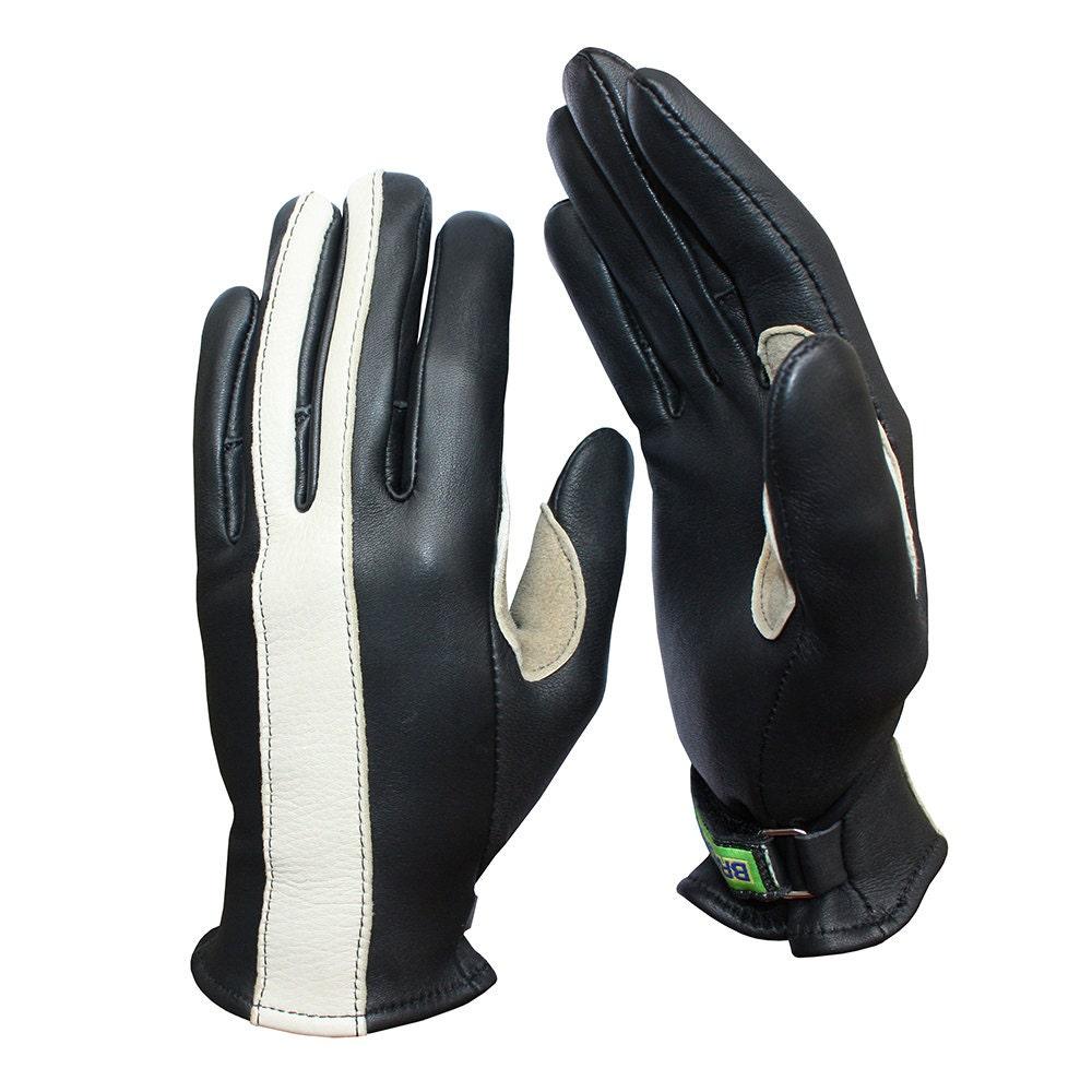 Motorcycle gloves deerskin -  Deerskin Scooter Motorcycle Gloves Zoom