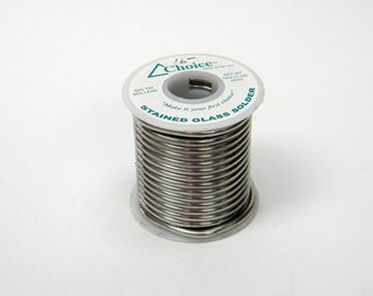 50/50 Stained Glass Solder 1 Pound Roll For Stained Glass