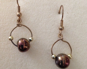Mirrored sphere earrings